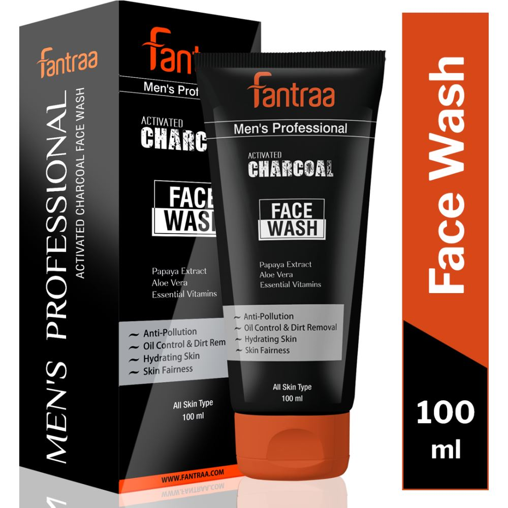 Fantraa Activated Charcoal Face Wash (100ml)