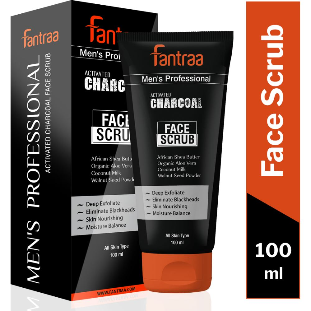Fantraa Activated Charcoal Face Scrub (100ml)