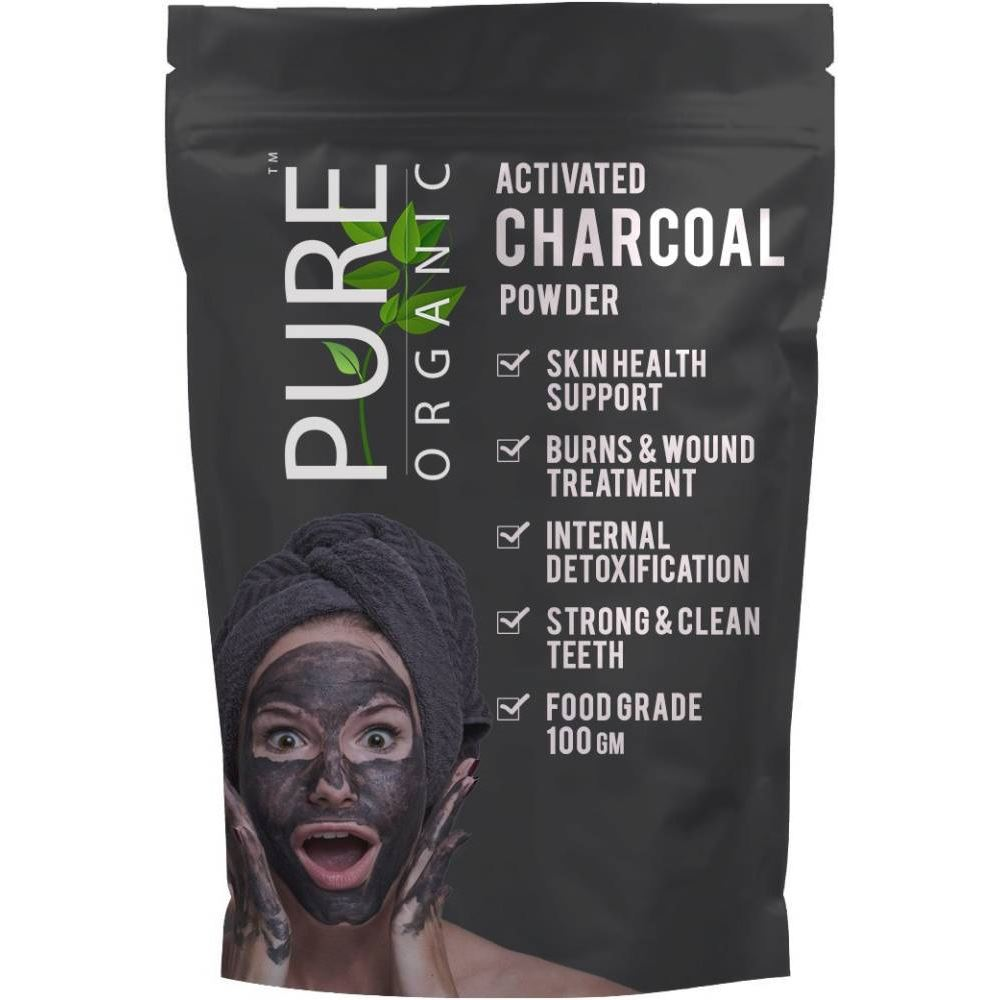 SkyMorn Pure Organic Dye Exports Pure Organic Activated Charcoal Powder (100g)