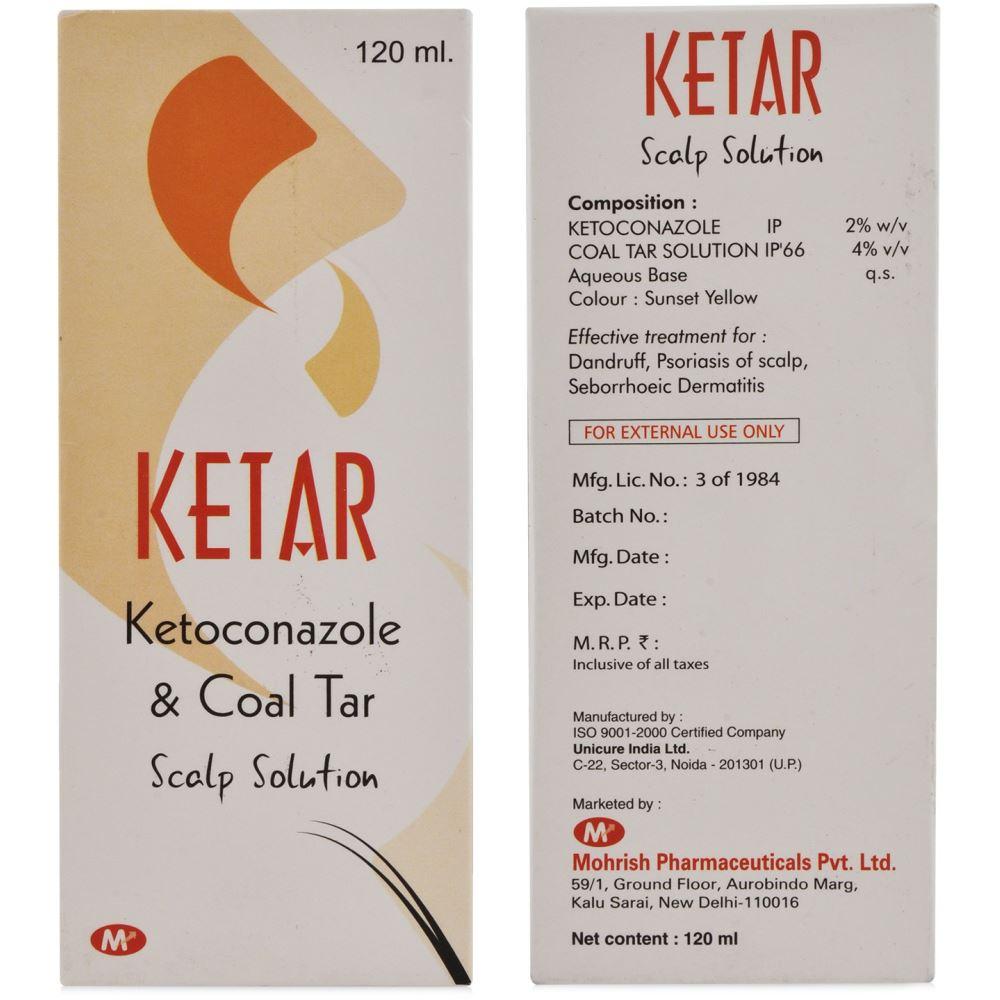 Mohrish Pharma Ketar Scalp Solution (2%w/v/4%w/v) (120ml)
