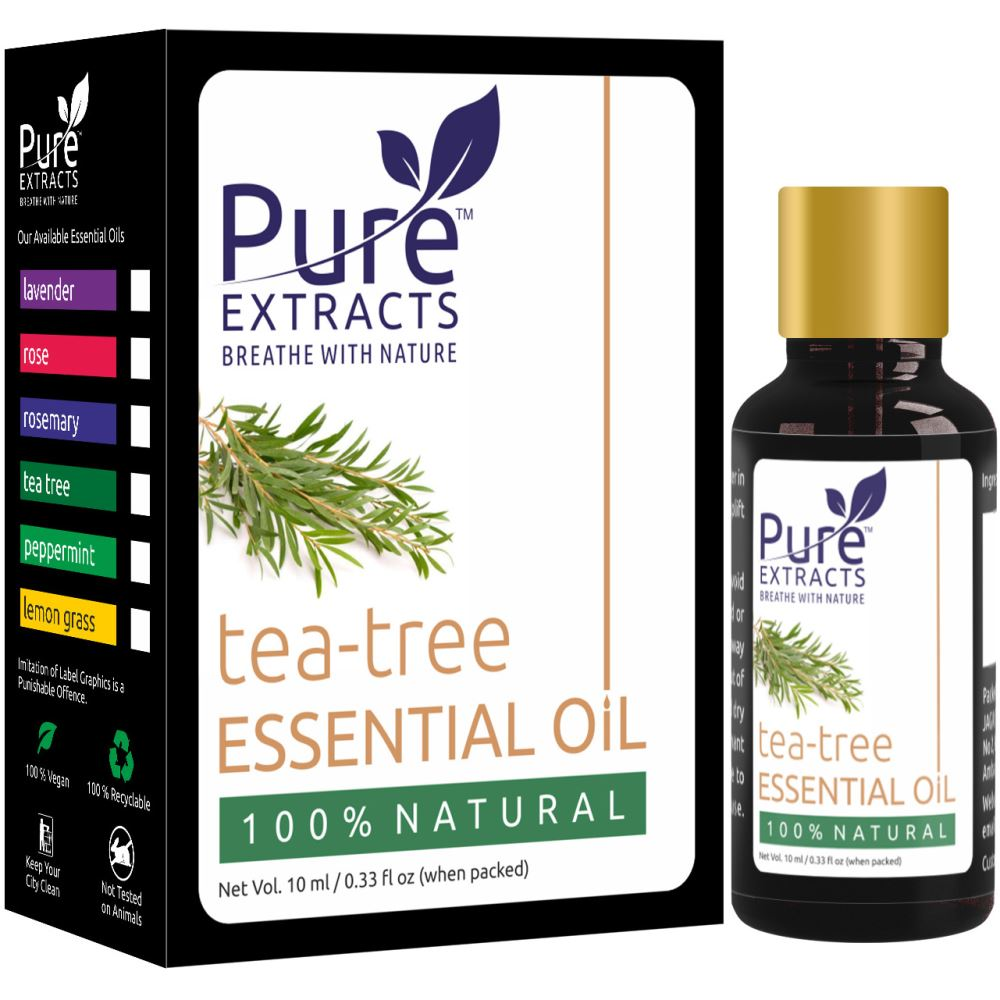 Pure Extracts 100% Pure Tea Tree Essential Oil (10ml)
