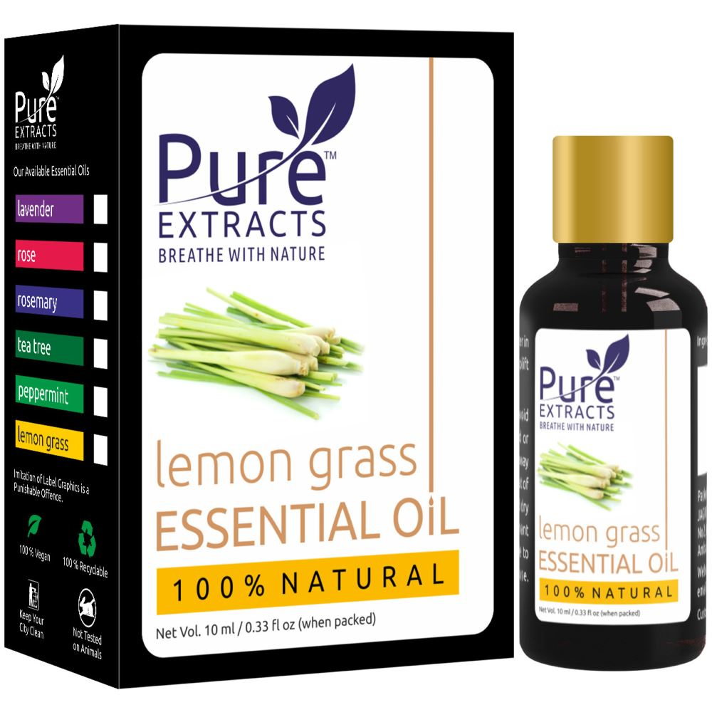 Pure Extracts 100% Pure Lemongrass Essential Oil (10ml)