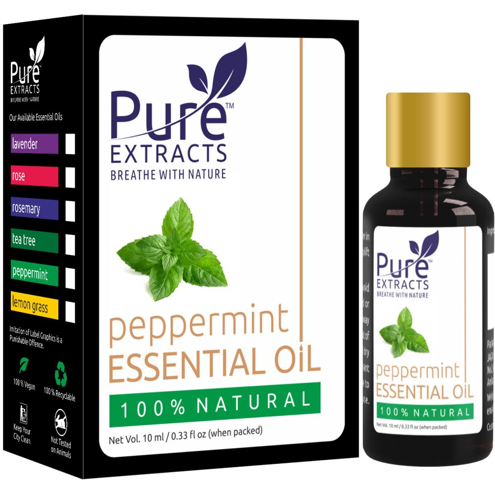 Pure Extracts 100% Pure Peppermint Essential Oil (10ml)
