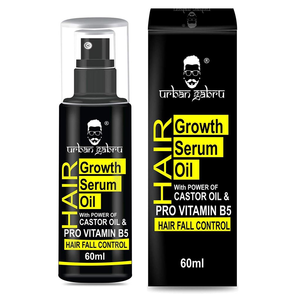 Urban Gabru Hair Growth Serum Oil With Castor Oil - Hair Fall Control Oil (60ml)