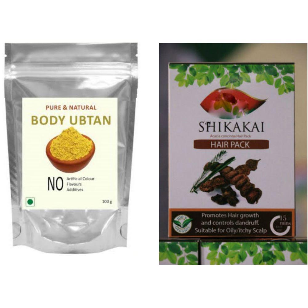 Indirang Ubtan Powder(100G) & Shikakai Powder(100G) Combo Pack (1Pack)
