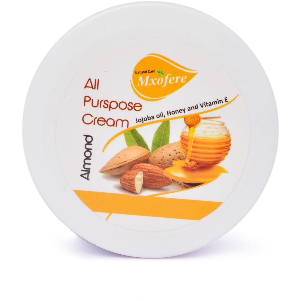 Mxofere Almond Cream All Purpose Cream {Paraben Free, Alcohol Free, Sulphate Free, Silicon Free, Phtalate Free} (100g)