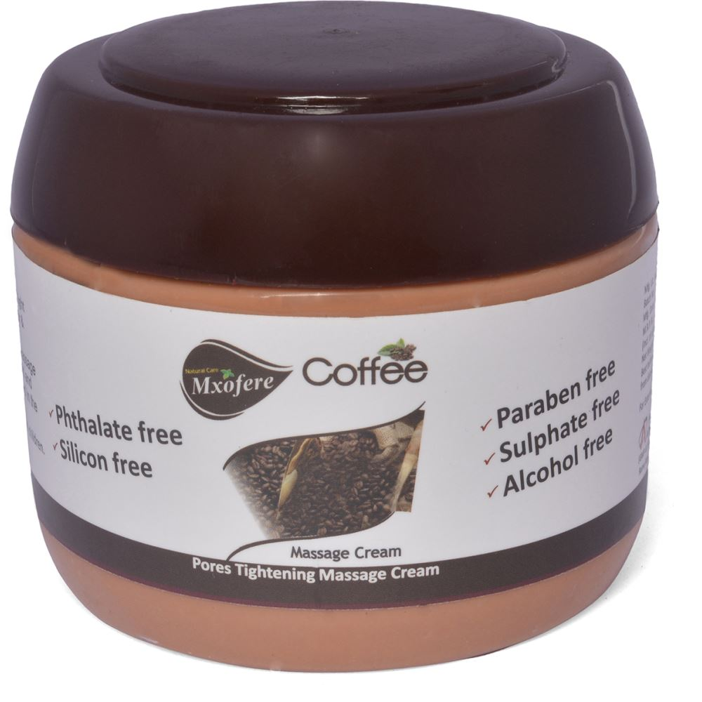 Mxofere Coffee Facial Massage Cream {Paraben Free, Alcohol Free, Sulphate Free, Silicon Free, Phtalate Free} (800g)