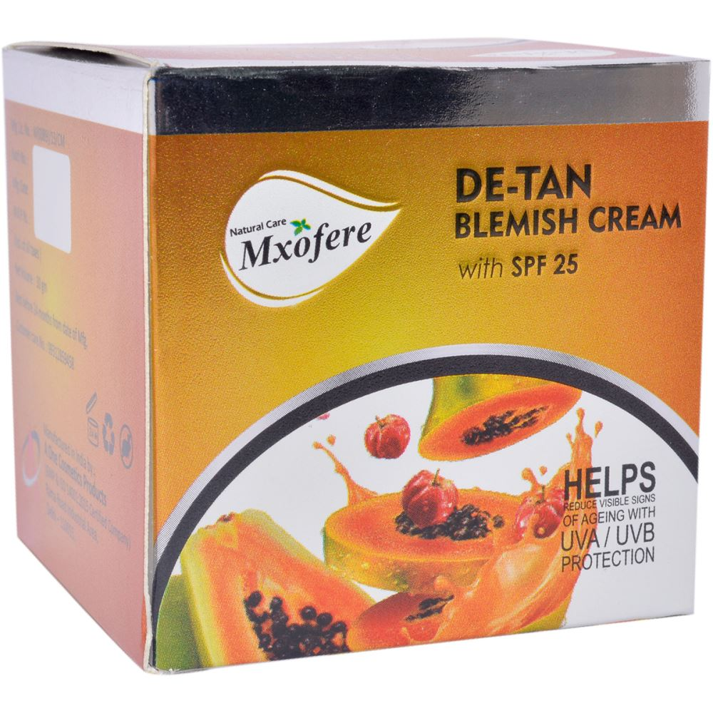 Mxofere Detan Blemish Cream With Papaya Extract With SPF 25 (30g)
