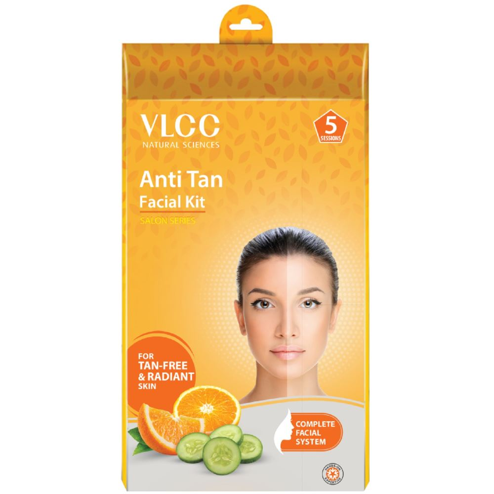 VLCC Anti-Tan Facial Kit (5 Sessions) For Tan-Free & Radiant Skin (300g)