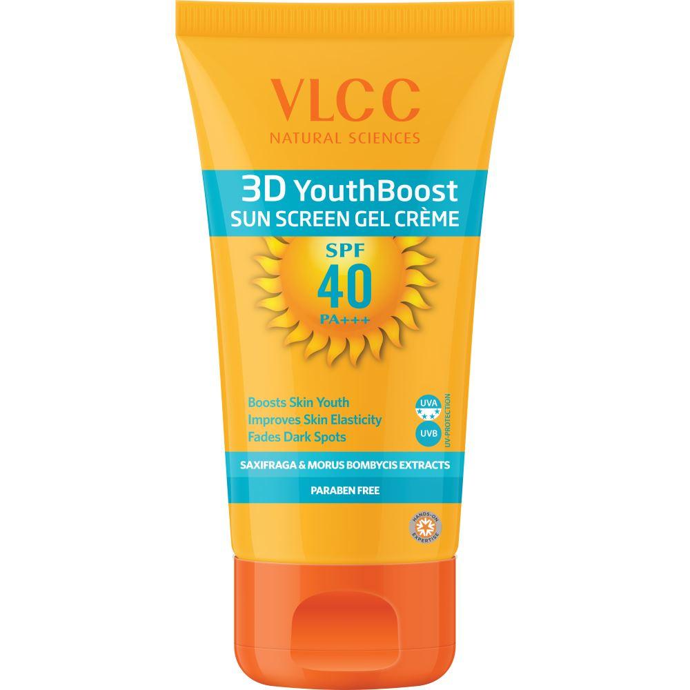 VLCC 3D Youth Boost Spf40 Sun Screen Gel Crème (100g)