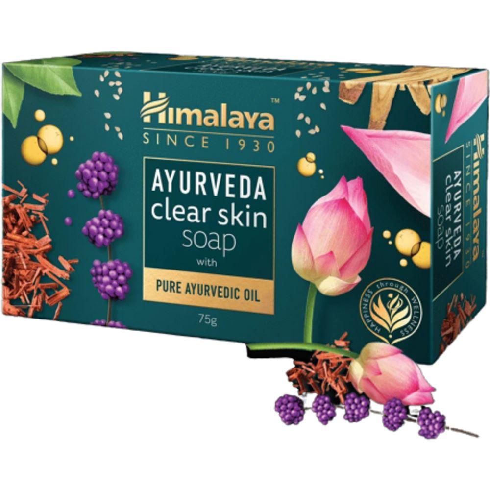 Himalaya Ayurveda Clear Skin Soap With Pure Ayurvedic Oil (75g)