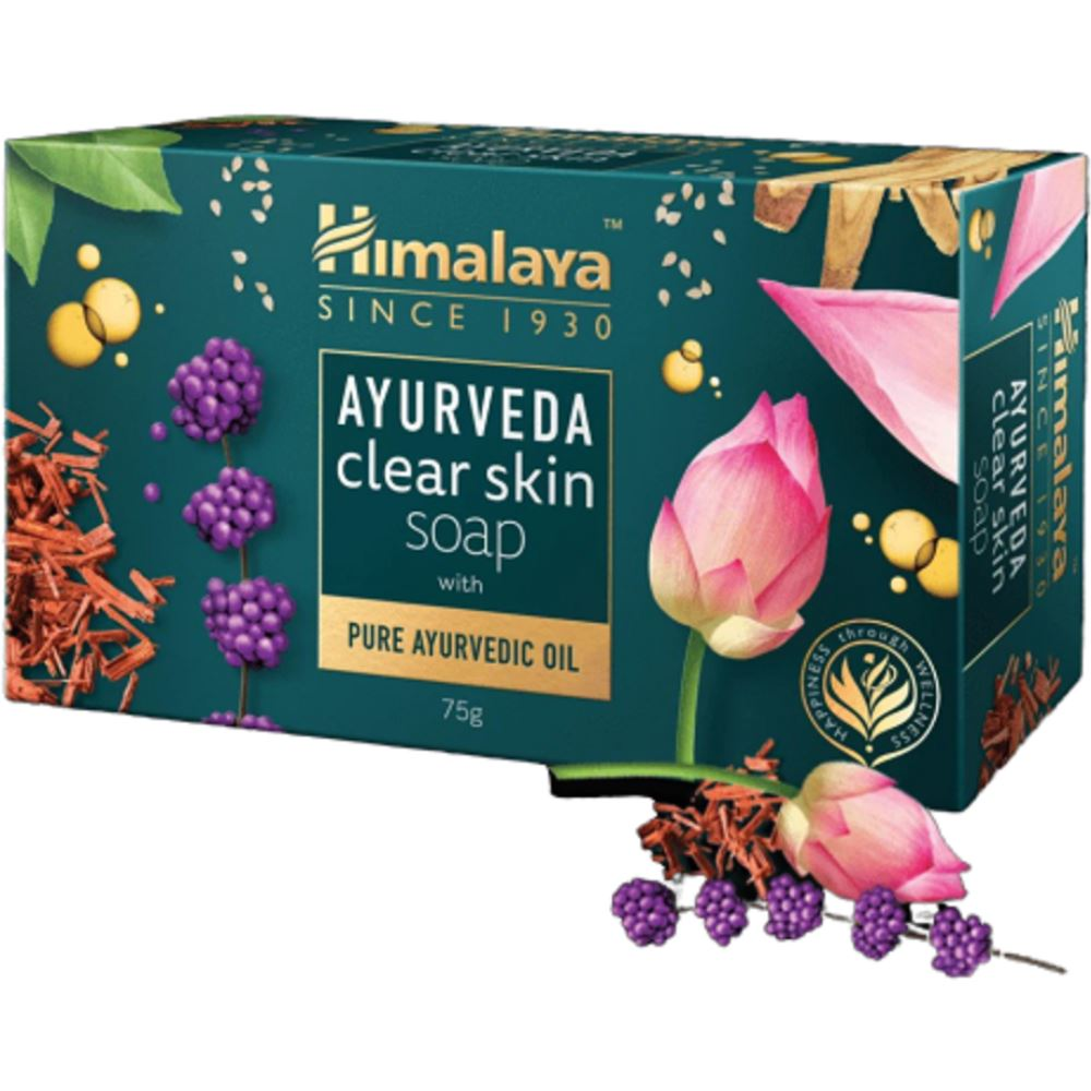 Himalaya Ayurveda Clear Skin Soap With Pure Ayurvedic Oil (75g, Pack of 2)