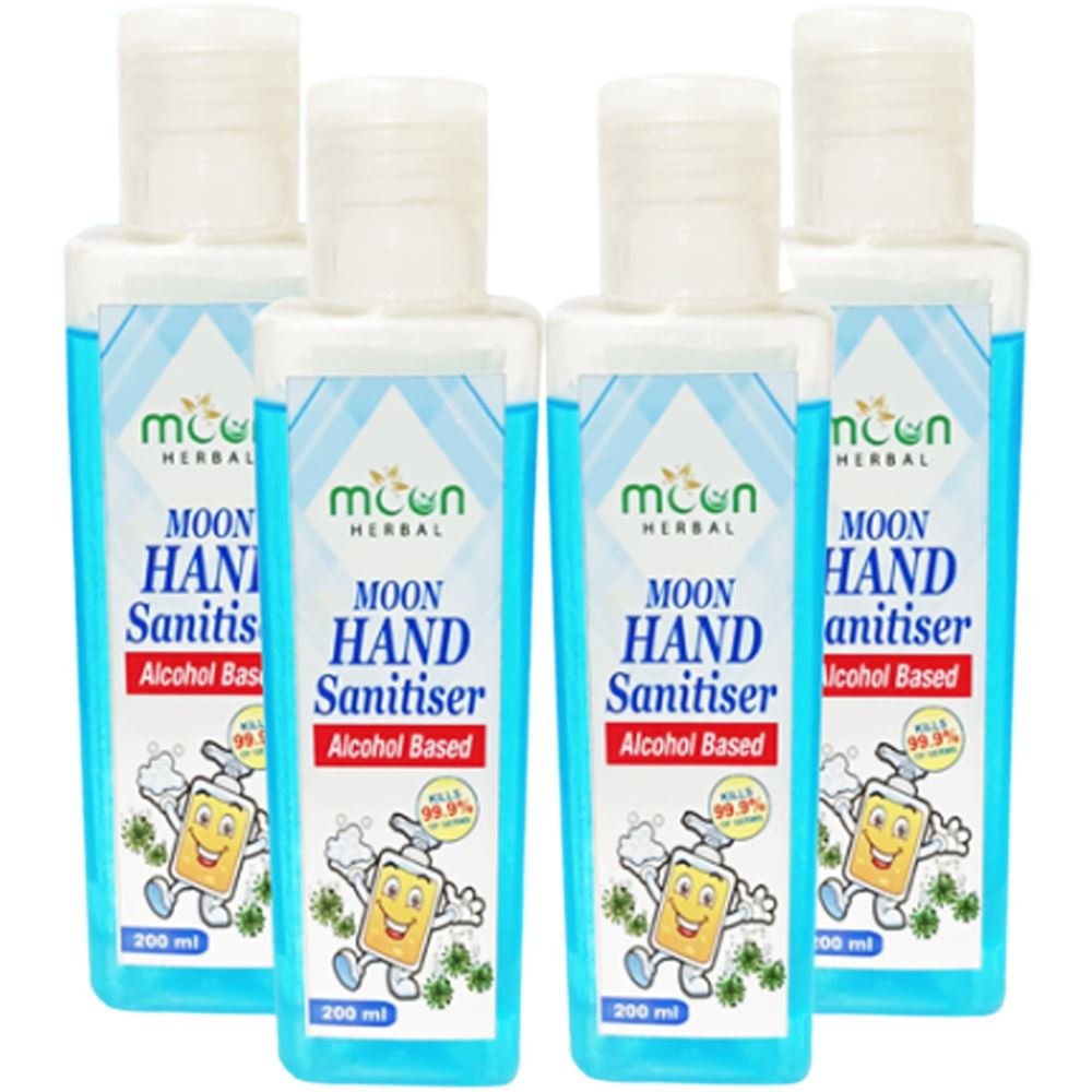 Moon Herbal  Hand Sanitizer (200ml, Pack of 4)