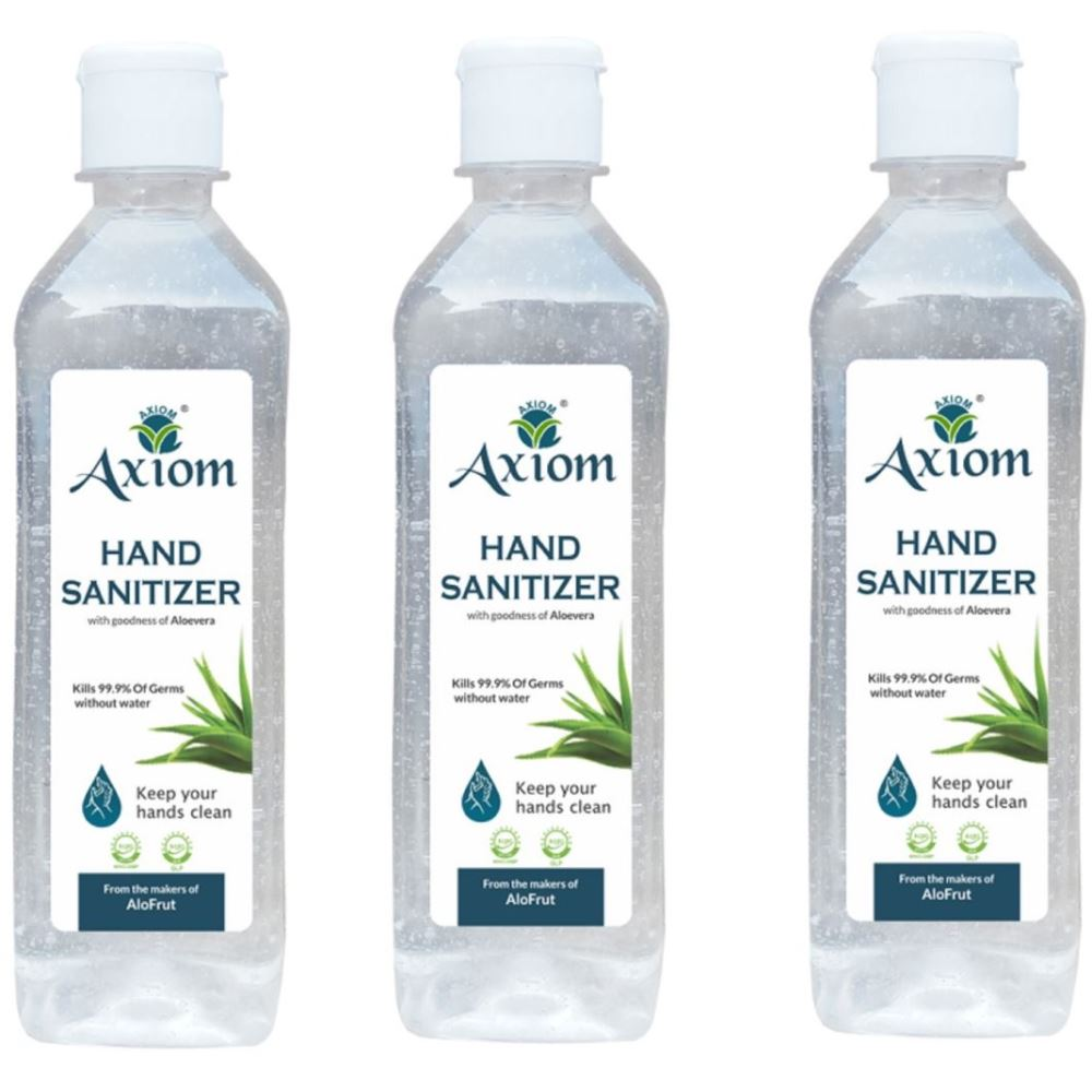 Axiom Hand Sanitizer Enriched With Aloevera, Neem And Haldi (160ml, Pack of 3)