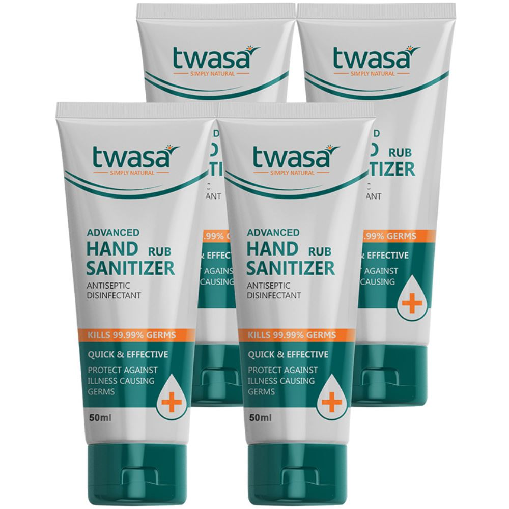 Twasa Advanced Hand Rub Sanitizer (50ml, Pack of 4)