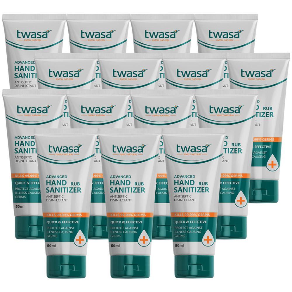 Twasa Advanced Hand Rub Sanitizer (50ml, Pack of 15)