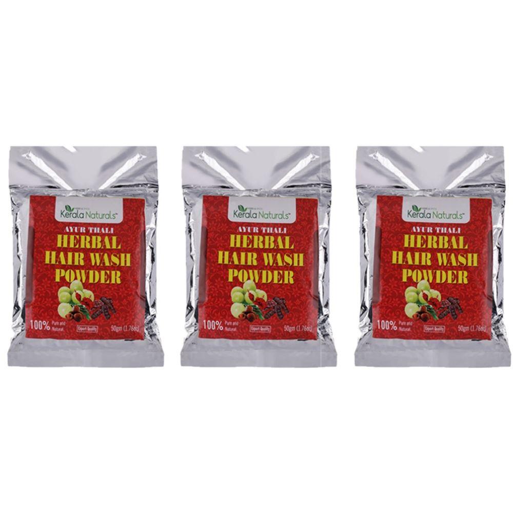 Kerala Naturals Ayur Thali- Herbal Hair Wash Powder (50g, Pack of 3)