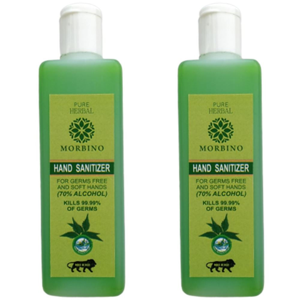 Pure Herbal Morbino Hand Sanitizer(Alcohol Based) (100ml, Pack of 2)
