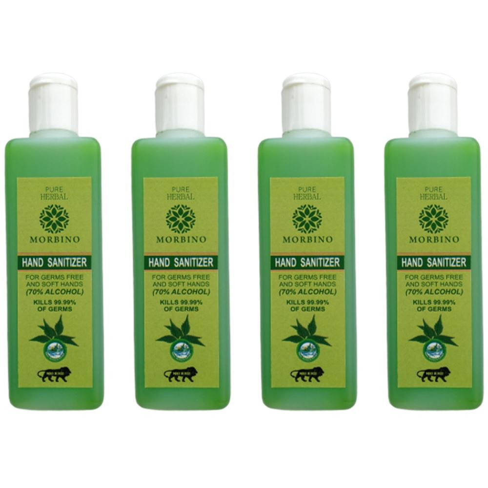 Pure Herbal Morbino Hand Sanitizer(Alcohol Based) (100ml, Pack of 4)