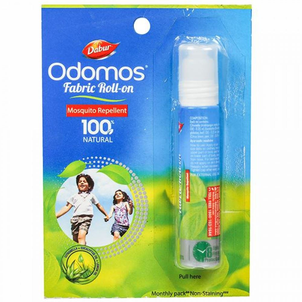 Dabur Odomos Fabric Roll-On Mosquito Repellent (8ml)