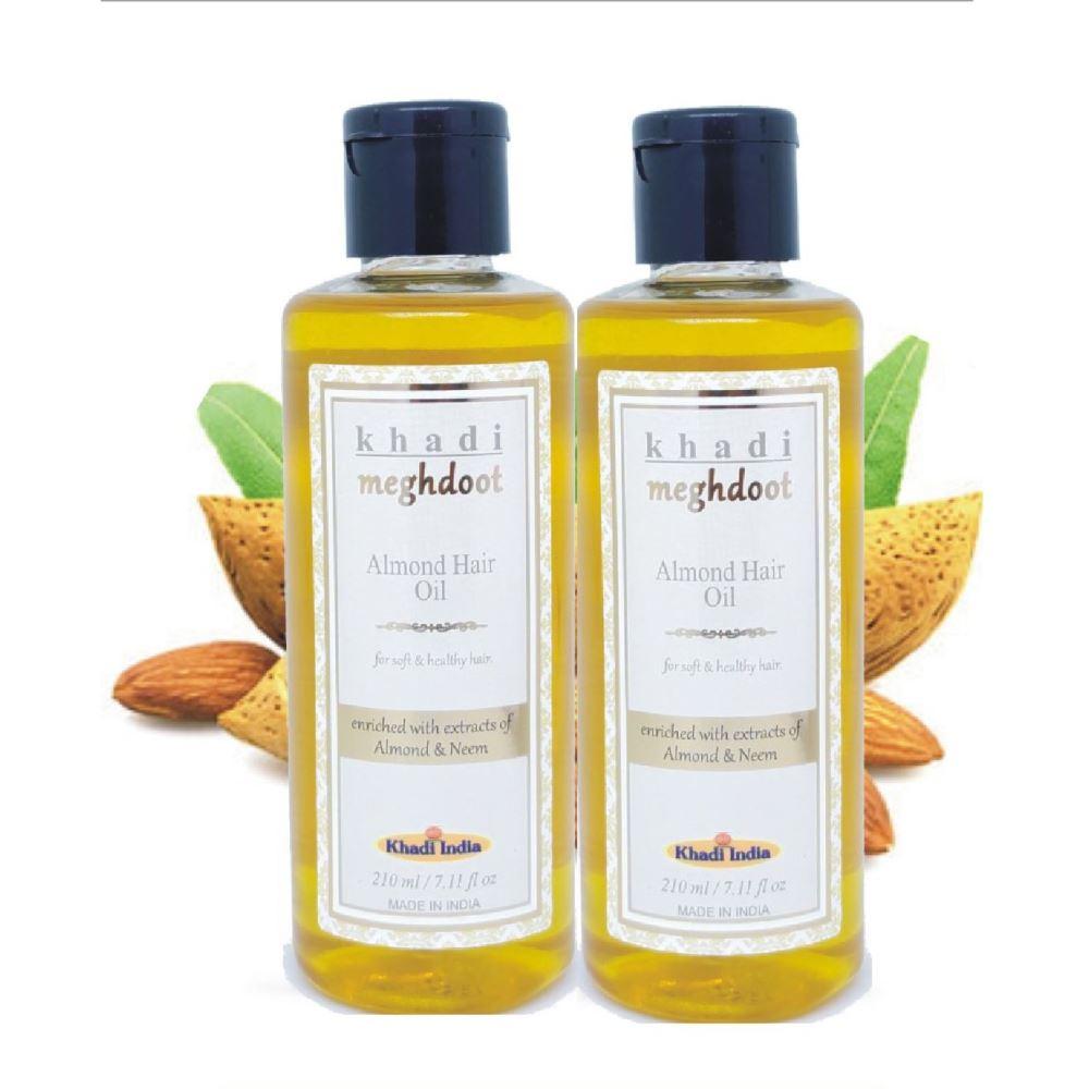 Khadi Meghdoot Almond Hair Oil (210ml, Pack of 2)