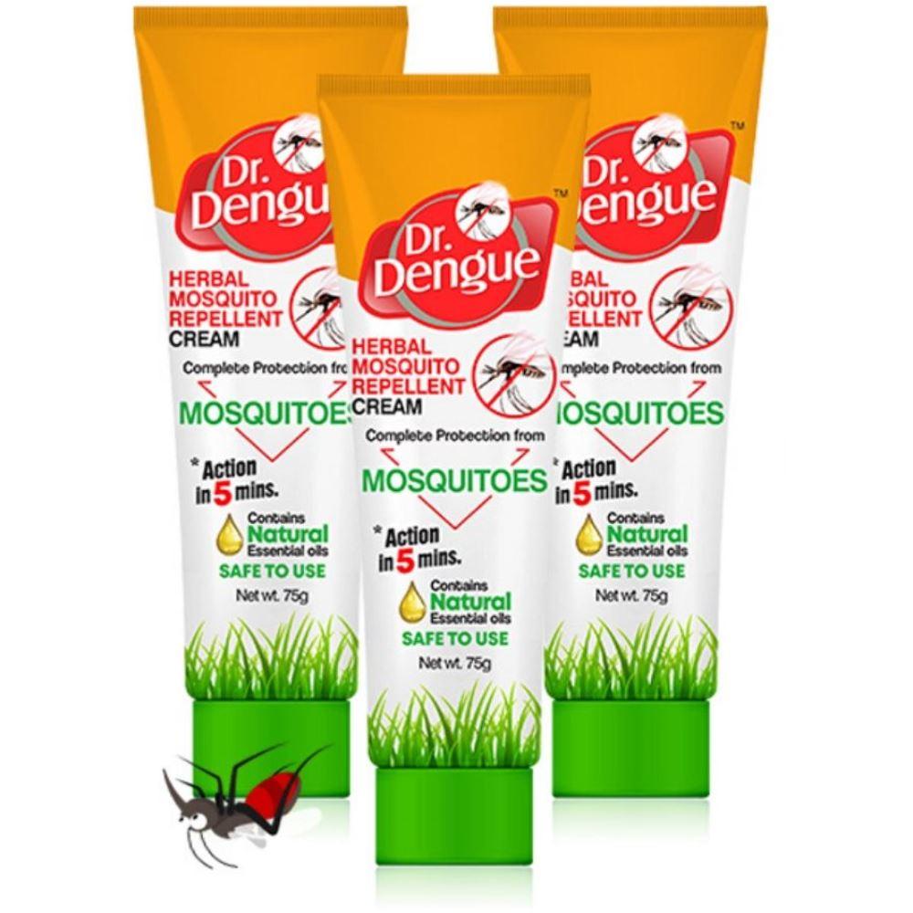 Dr. Dengue Herbal Mosquito Repellent Cream (75g, Pack of 3)