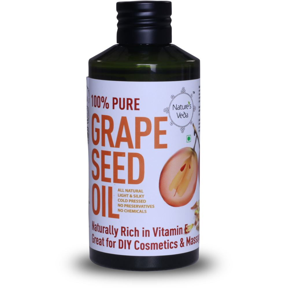 Nature's Veda Grape Seed Oil Cold Pressed (150ml)