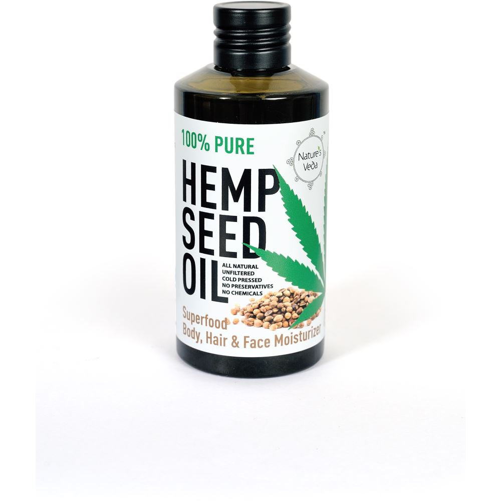 Nature's Veda Hemp Seed Oil (150ml)