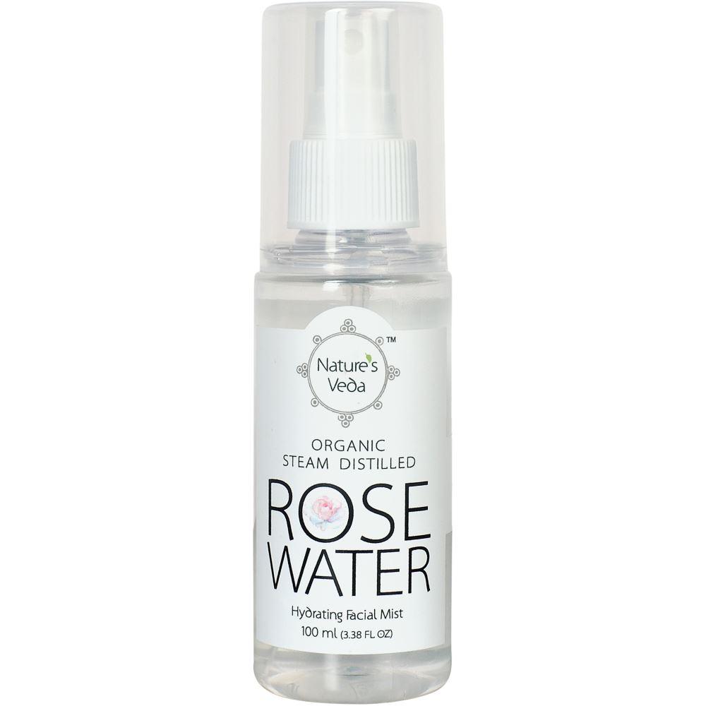 Nature's Veda Rose Water Organic, Steam Distilled (100ml)