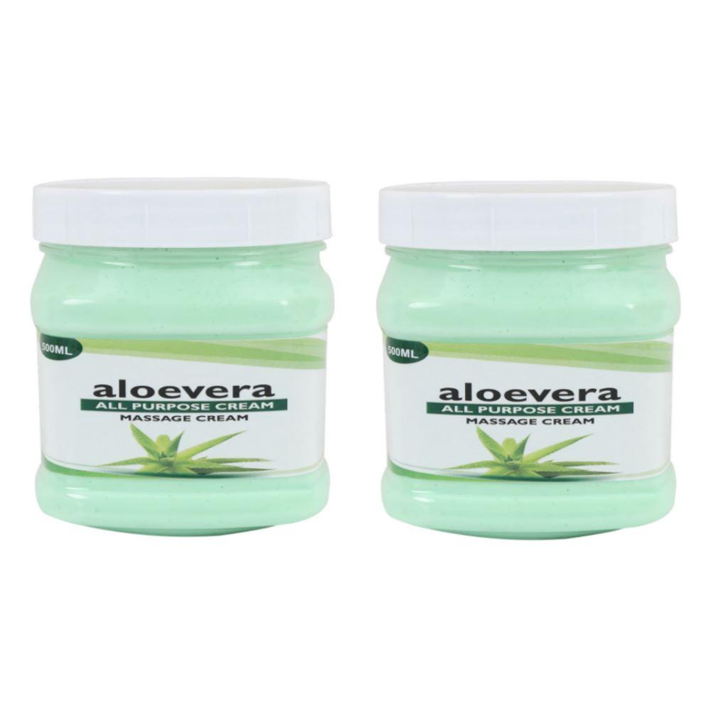Indirang Aloevera Cream (500ml, Pack of 2)