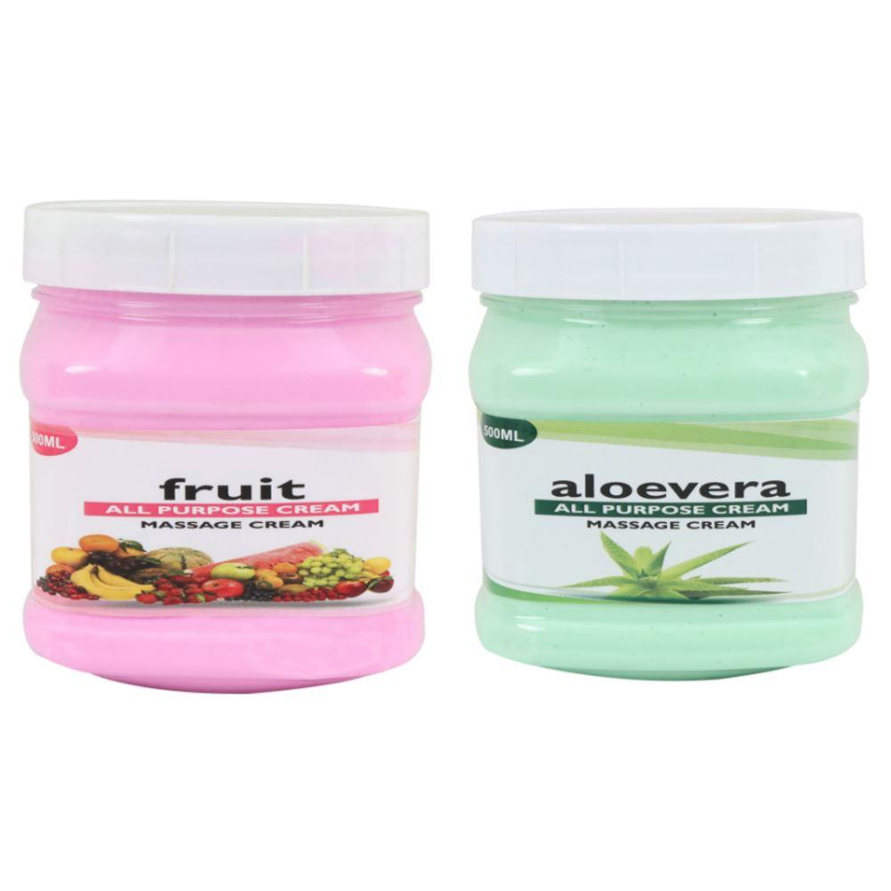 Indirang Aloevera Cream & Fruit Cream Combo Pack (1Pack)