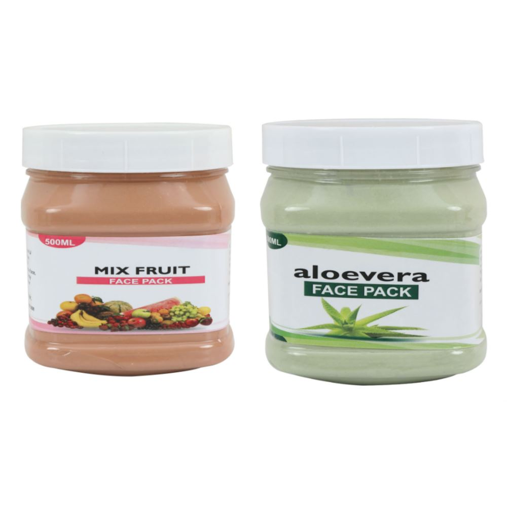 Indirang Aloevera Face Pack & Fruit Face Pack Combo Pack (1Pack)