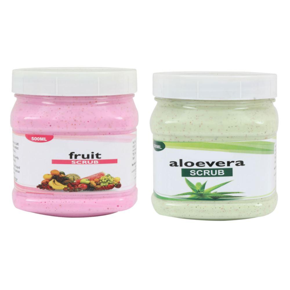 Indirang Aloevera Scrub & Fruit Scrub Combo Pack (1Pack)