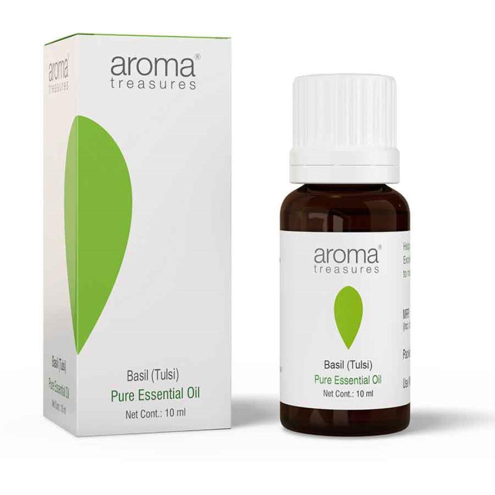 Aroma Treasures Basil (Tulsi) Essential Oil (10ml)