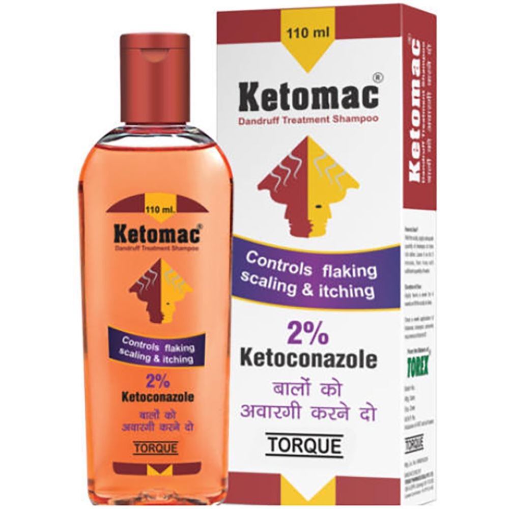 Torque Ketomac Dandruff Treatment Ketoconazole Shampoo (110ml)