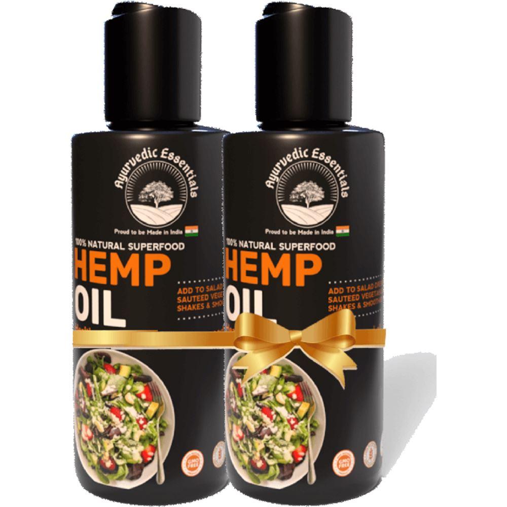 Ayurvedic Essentials Hemp Oil (200ml, Pack of 2)