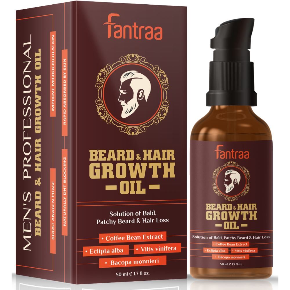 Fantraa Beard And Hair Growth Oil Enriched (50ml)
