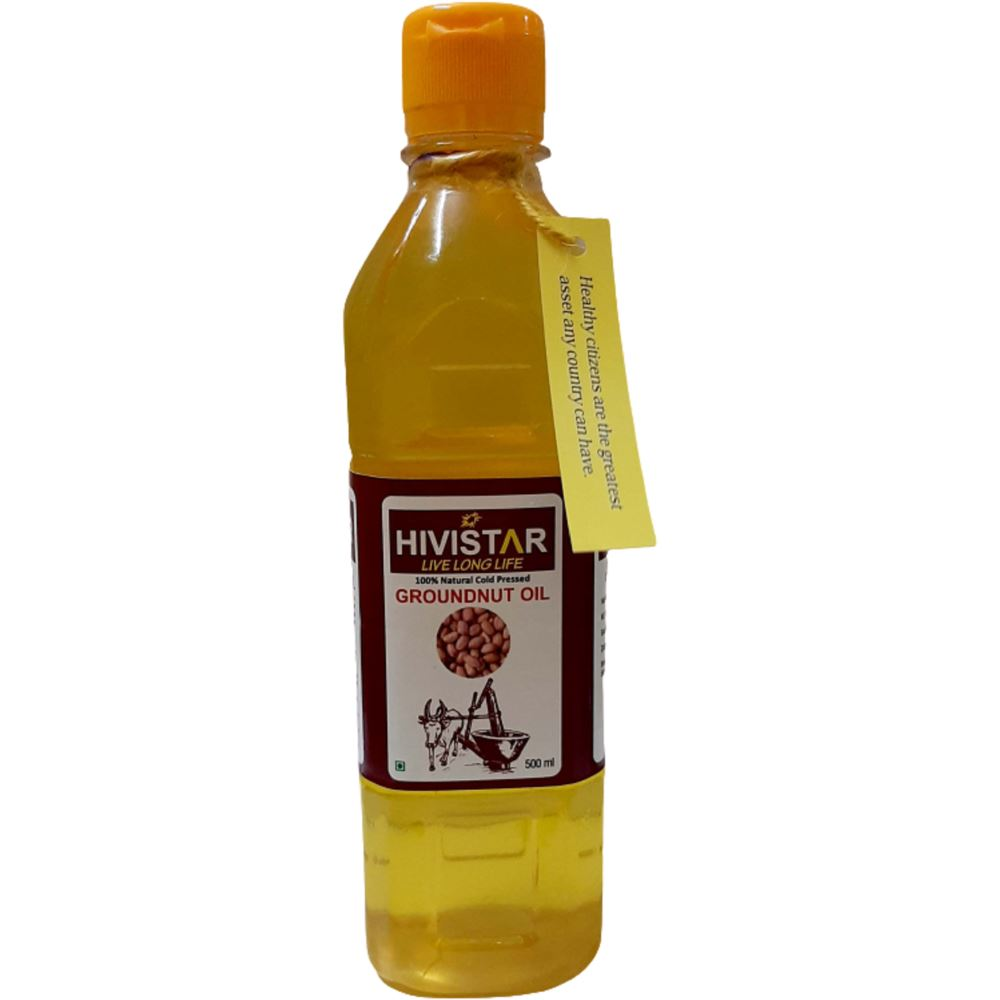 Hivistar Natural Cold Pressed Groundnut Oil (500ml)