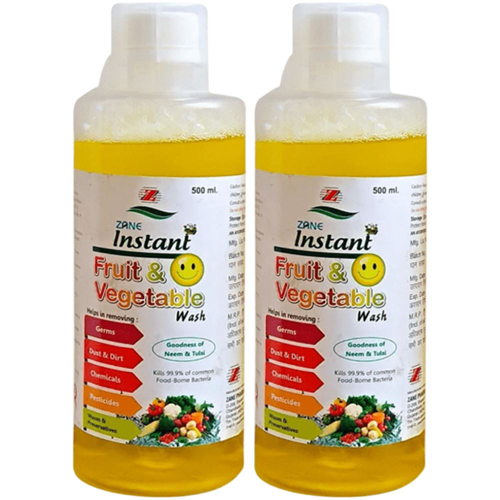 Zane Instant Fruit Wash (500ml, Pack of 2)