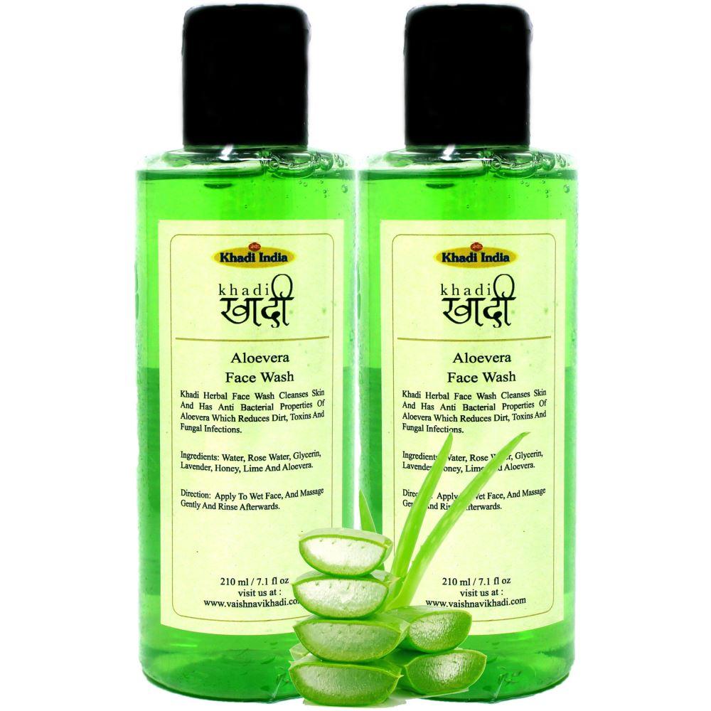Khadi Aloe Vera Face Wash (210ml, Pack of 2)
