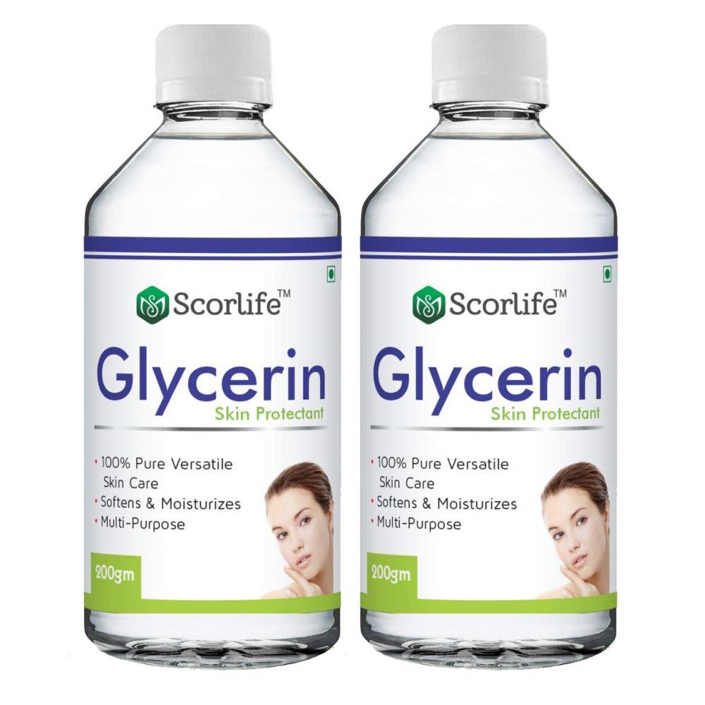 Scorlife Vegetable Glycerin For Skin (200ml, Pack of 2)