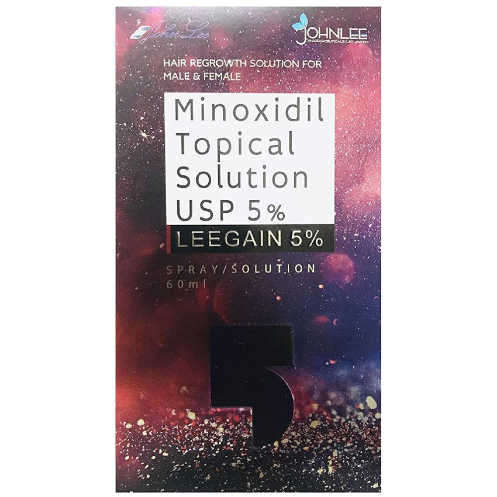 Johnlee Minoxidil Leegain 5% Solution/Spray For Hair Loss Treatment For Men & Women (60ml)