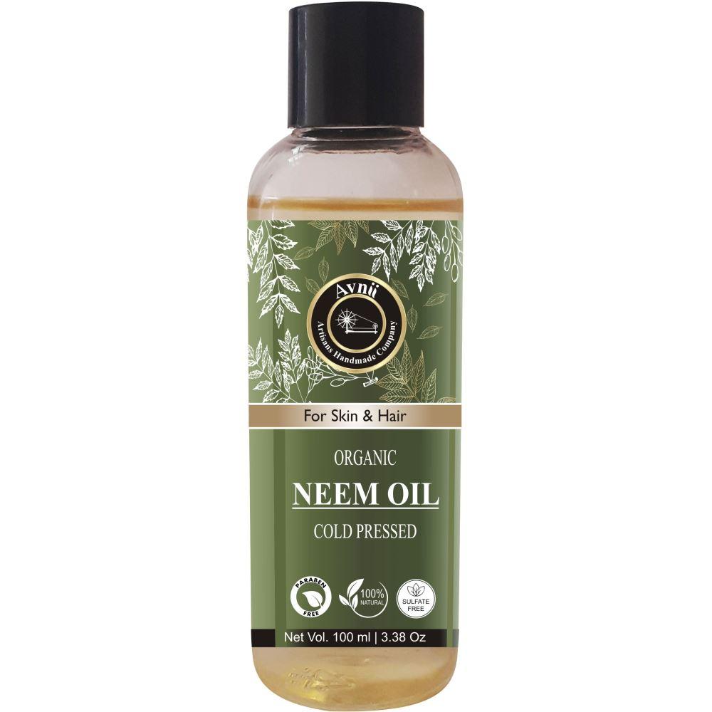 Avnii Organics Neem Oil For Hair & Skin Care (100ml)