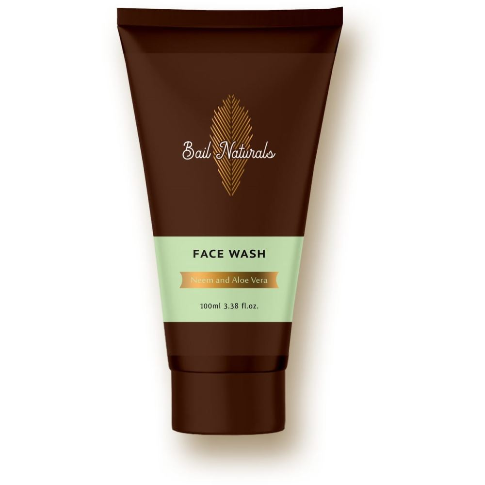 Bail Naturals Neem & Aloe Vera Face Wash For Dry Skin (100ml)