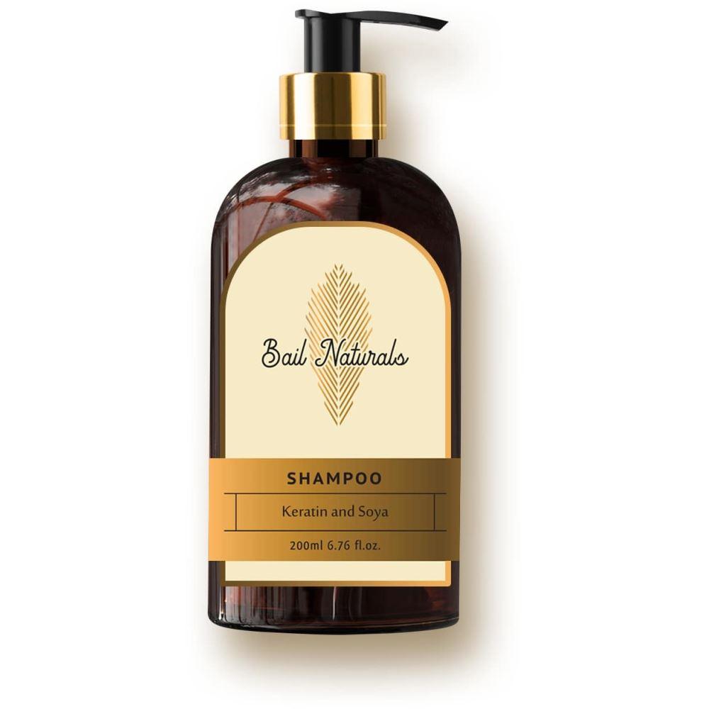 Bail Naturals Keratin And Soya Shampoo For Hair Fall And Re-Growth (200ml)