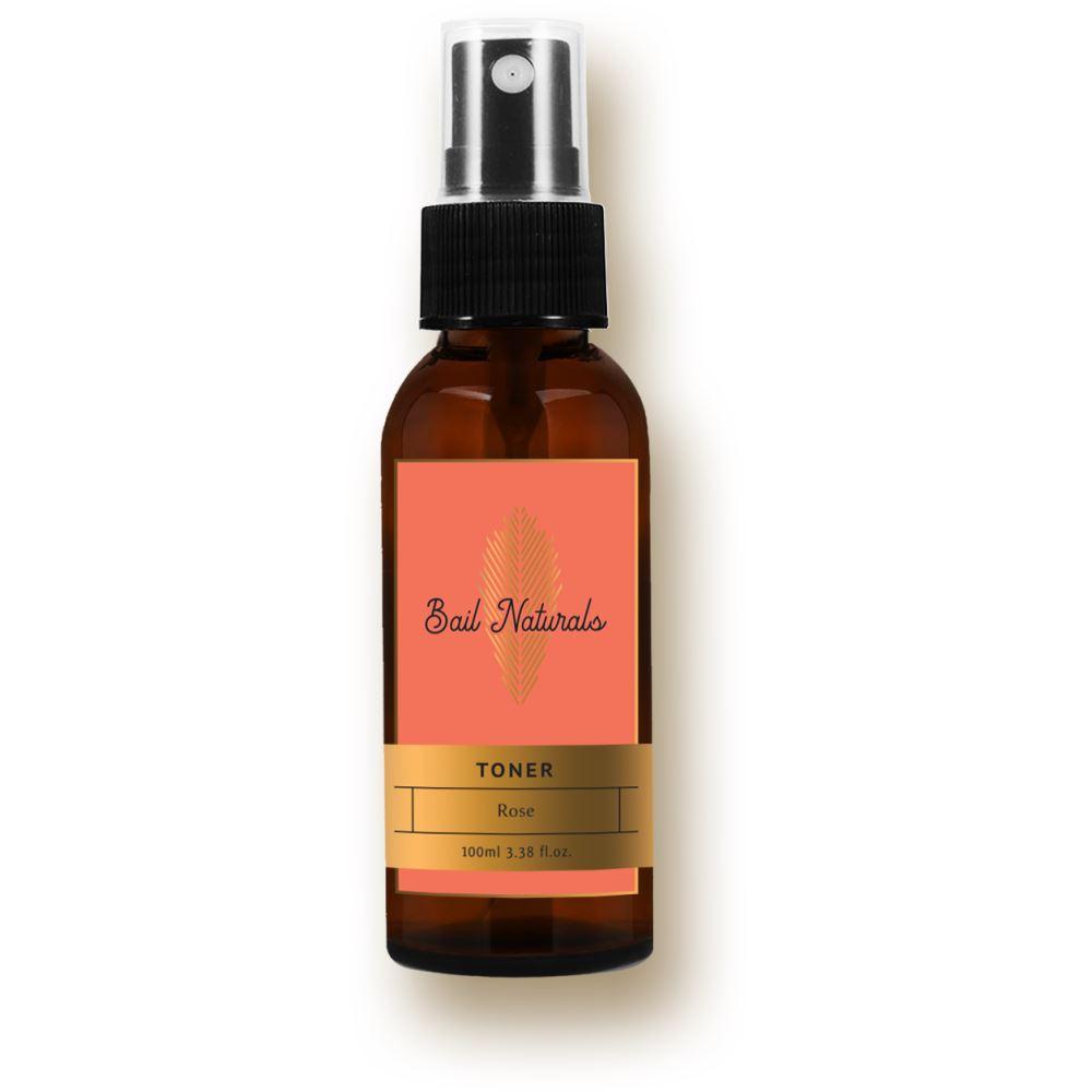 Bail Naturals Rose Toner, Balances And Restore Skin'S Ph Level And Tighten Pores (100ml)