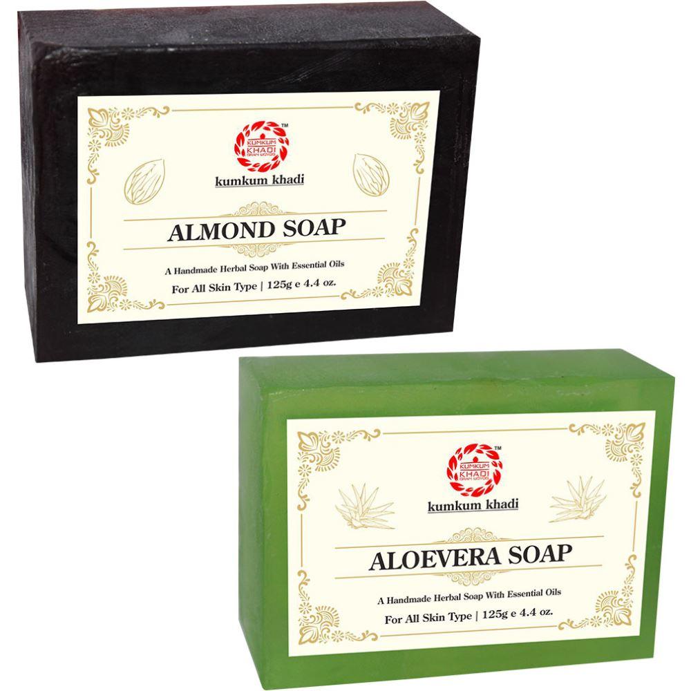 Kumkum Khadi Herbal Almond And Aloevera Soap (1Pack)