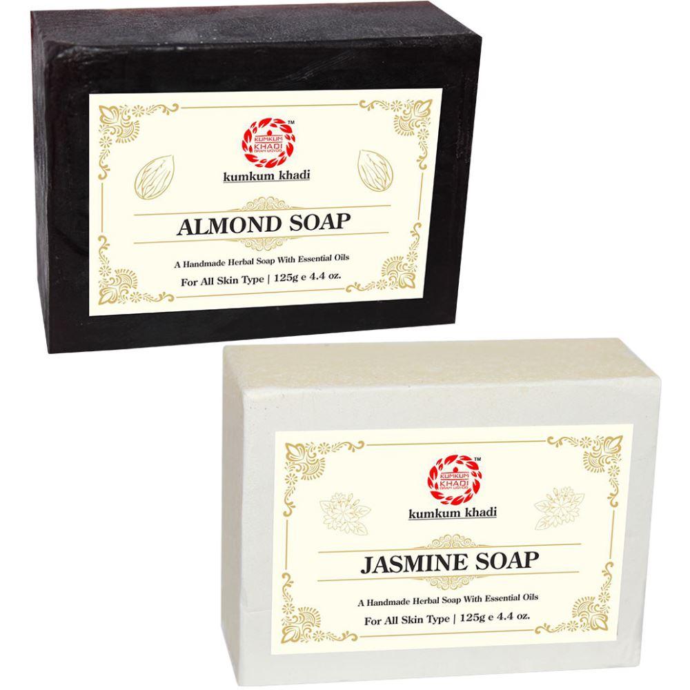 Kumkum Khadi Herbal Almond And Jasmine Soap (1Pack)