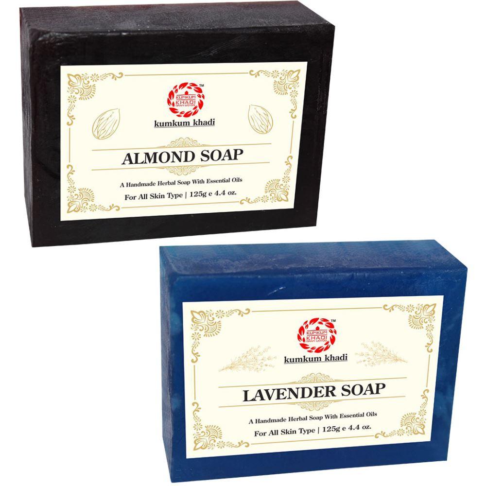 Kumkum Khadi Herbal Almond And Lavender Soap (1Pack)