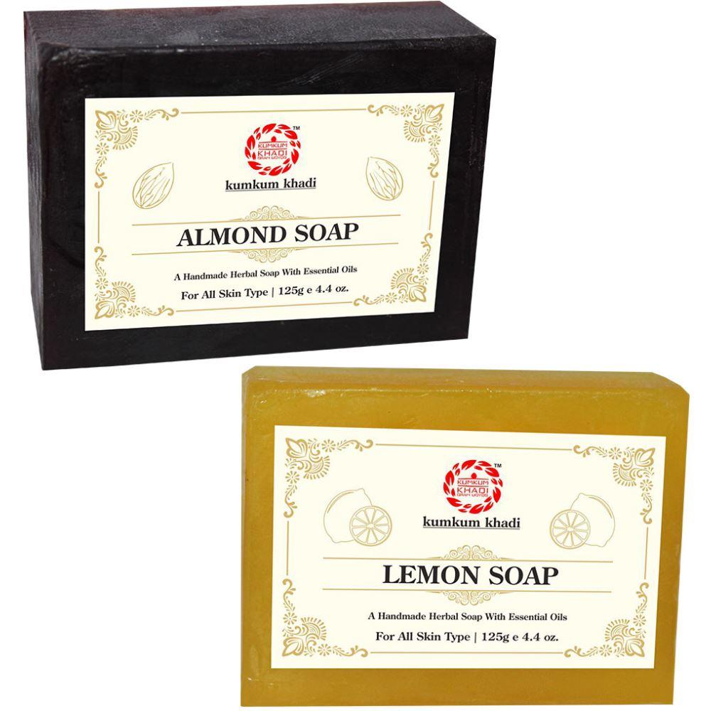 Kumkum Khadi Herbal Almond And Lemon Soap (1Pack)